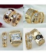Stunning Cubic Zirconia Wedding Bridal 2pcs Cute Finger Ring Set For Wom... - $15.62