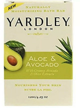 Yardley London Bar Soap Aloe Vera and Avocado 4.25 oz Bar - $3.25