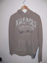 American Eagle Outfitters Men's Hooded Tan Sweatshirt Size Large th - $19.99