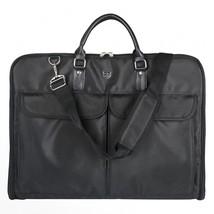 Waterproof Travel Bag Black Nylon Zipper Garment Clamp Business Men Ligh... - $1.533,34 MXN