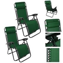 Lounge Chair Recliner Patio Pool Beach Outdoor Folding Chair-1 Pair Hunt... - $297.00