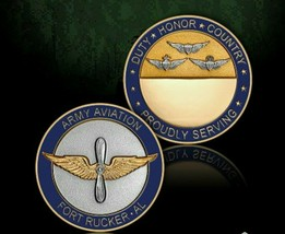 "Army Aviation Fort Rucker Alabama Badge 1.75"" Challenge Coin - $18.04"