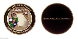 "ARMY RANGERS LEAD THE WAY FORT BENNING 3RD RANGER BATTALION 1.75"" CHALLE... - $16.24"