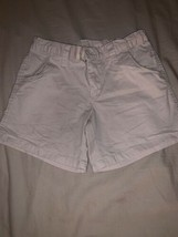 Girls Size 12 Faded Glory Solid Light Tan Beige Summer Shorts Adjust Wai... - $10.00