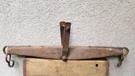 Vintage Antique Oxen Horse Cow Yoke Primitive Cast Iron Farm Barn Single... - $40.19