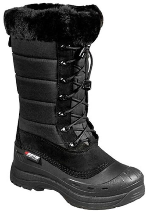 New Ladies Size 7 Black Baffin Iceland Snowmobile Winter Snow Boots Rated -40F