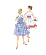 50s Vintage Simplicity Sewing Pattern 3364 Pre-Teen Flared Dress Cummerbund 12s - $7.95