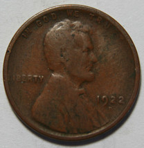 1922D Weak D  LINCOLN PENNY 1¢ Cent Wheat Coin LOT# A 2114