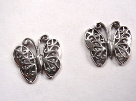 Butterfly Filigree Stud Earrings 925 Sterling Silver Post Corona Sun Jew... - $7.91