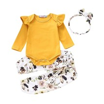 3PCS Pudcoco Newborn Baby Girl Clothes Romper T shirt Top Pants Leggings... - $13.39