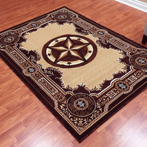 Texas Star Western Lodge Brown Area Rug **Free Shipping** - $99.50+