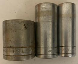 SK TOOLS lot of 3 sockets 40420 40426 40136 5/8 13/16 1 1/8 - $14.01