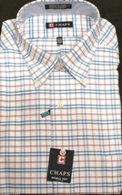 CHAPS Men's Plaid Classic Fit Oxford Long sleeve Dress shirt 16-16 1/2  -34/35 - $16.00