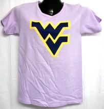 West Virginia Mountaineers Flying WV Light Purple Tee Shirt Large - $13.99