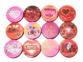 "3"" LOVE Theme Folding Makeup Round Compact Mirror - $5.95"