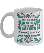 Mother Son Gift 11oz Cup - Birthday Gift For Son - Gift Ideas For Son - Son Gift - $13.95