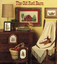 Cross Stitch Tarlton Flats Old Red Barn Horse Collar Wagon Wheel Lantern... - $12.99