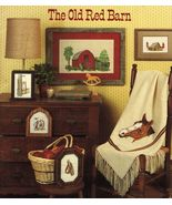 Cross Stitch Tarlton Flats Old Red Barn Horse Collar Wagon Wheel Lantern... - $12.99