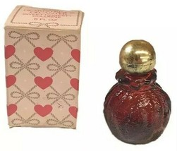 Vintage Avon Sweet Honesty Perfume Cologne Red Glass Heartstrings Decant... - $14.01