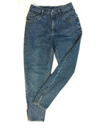 Vintage Sz 13 long Super High Waist Lee Zipper Ankle Mom Jeans Made in t... - $69.18