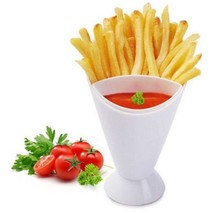 French Fries Holder Dipping Cup Fry Cone Set Plastic Sauce Dip Snack Veg... - £4.52 GBP