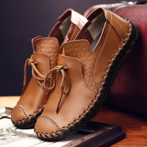 Casual Moccasins Men Shoes Basi Soft Leather Merkmak Comfortable Loafers Genuine gEwqTgnO