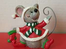 Vintage Christmas Mouse Holiday Ornament Collectible Gift - $6.98