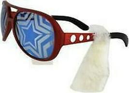 Uncle Sam Patriotic Rock & Roller Costume Sunglasses w/ 50s sideburns Ju... - $15.32 CAD