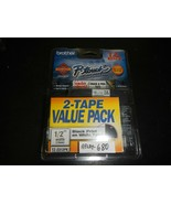 Brother P-Touch TZ-1312PK  Labeling System 2 Tapes Black NEW IN BOX (REL... - $14.85