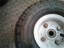 """Utility Wheels / Tires: 4.10/3.50-4 with 5/8"""" Bearings - 10"""" Pneumatic dirty image 4"""