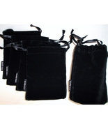 5 Mary Kay Classic Black Velvet Jewelry Pouch/Cosmetic Beauty Bag   - $9.95