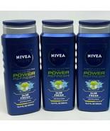 NEW! (3-PACK) Nivea For Men POWER REFRESH Body Wash Citrus Menthol 3-in-... - $14.24