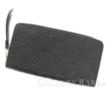 LOUIS VUITTON Zippy Wallet Monogram Empreinte Noir M61864 Authentic 5443185 - $1,058.25