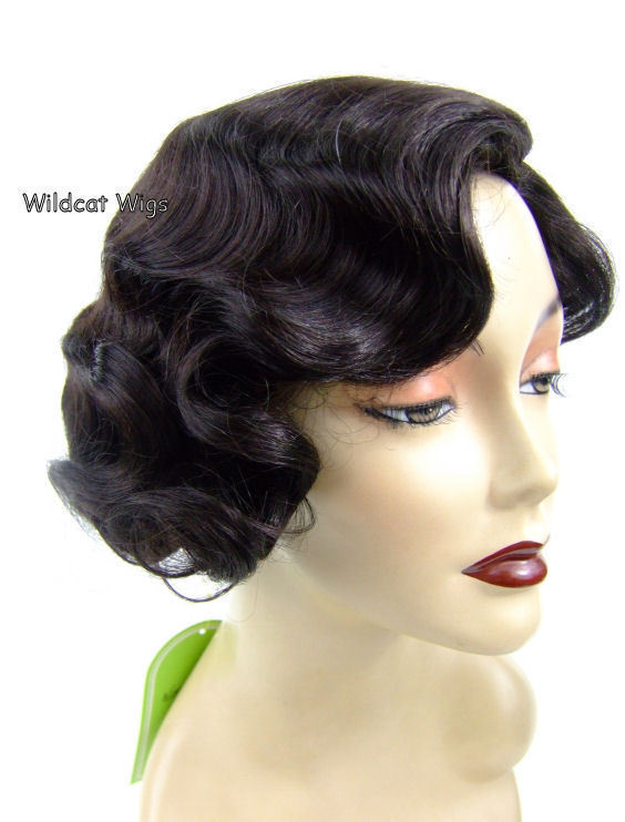 Fingerwave Quality Wig, Rose.  Color 4-Dark Brown.