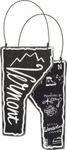 Vermont State Shape Ornament  Primitives by Kathy Black Chalkboard Look ... - $7.95