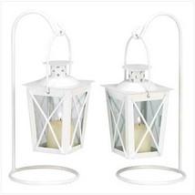 White Railroad Candle Lanterns - $22.74