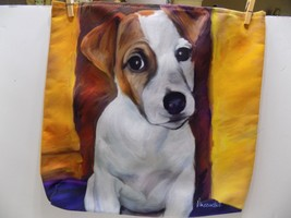 "Robert McClintock TOTE BAG "" BABY JACK"" 18 X 18""  JACK RUSSELL  FREE SHIP - $19.57"