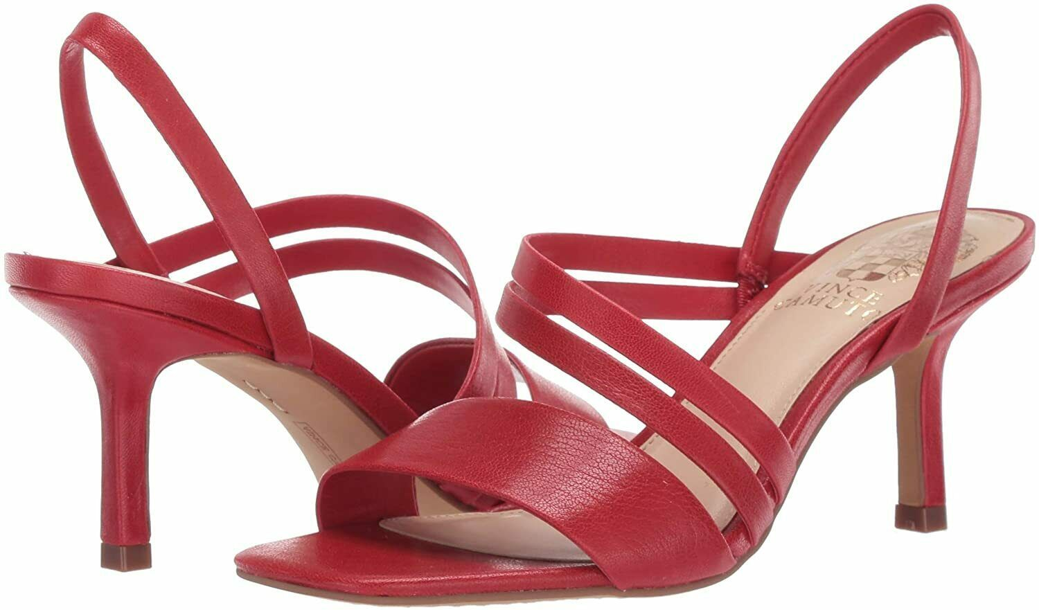 Primary image for Vince Camuto Savesha Multi Strap Leather Slingblack Sandals, Multiple Sizes Red
