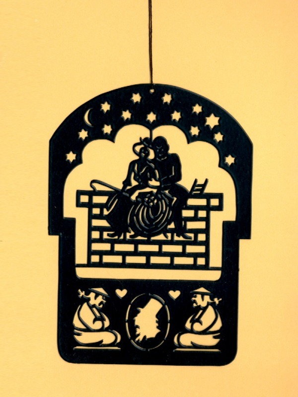 2 Pcs. Hans Christian Andersen's Black Brass Mobile Hangers