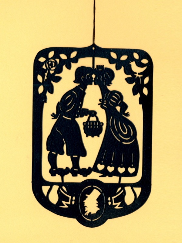 2 Pcs. Hans Christian Andersen's Black Brass Mobile Hangers