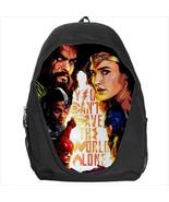 backpack bookbag justice league wonderwoman flash aquaman - $41.00
