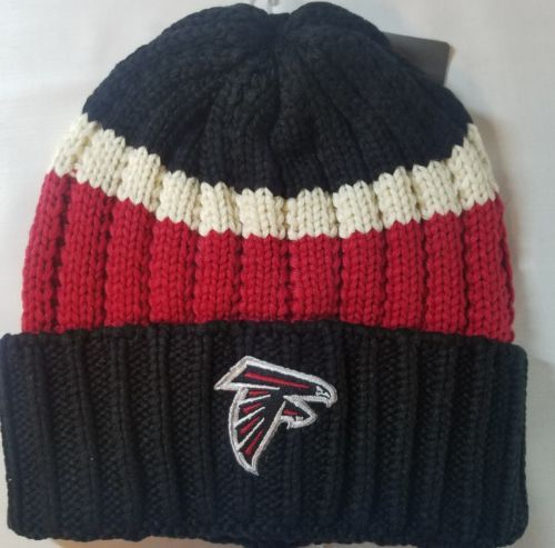 919a14e77 12. 12. Previous. Atlanta Falcons NFL Tight Cuff Striped Knit Beanie Warm Winter  Hat Cap