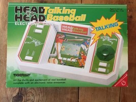 TIGER HEAD TO HEAD TALKING BASEBALL HANDHELD LCD GAME VTG MIB new - $49.58