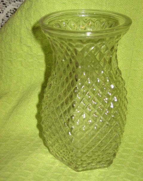 Hoosier Glass Clear Vase Diamond Pyramid And 23 Similar Items