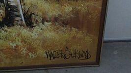 "Large 61""x 49"" Original Walter Sherwood Landscape Oil Painting Signed Artist Art image 7"