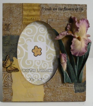 Friendship Picture Frame with Flowers