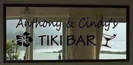 "Custom Tiki Bar Martini Vinyl Wall Quote Sticker Decal 11""h x 36""w - $29.99"