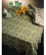 Challenging SPLENDOR TABLECLOTH TOPPER Doily Crochet Pattern - $6.99