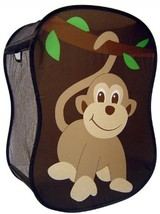 Kids Bedroom Hamper Clothing Toy Carrier w Handles Monkey Pet 18 X 11 X 24 - $26.72