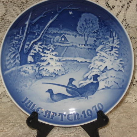 "Primary image for B & G Christmas Plate ""Pheasants in the Snow""-Denmark- 1970"